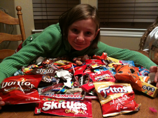 500+ pieces of candy